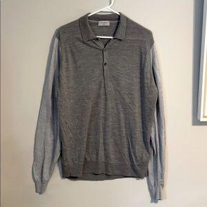 John Smedley Very light weight gray sweater